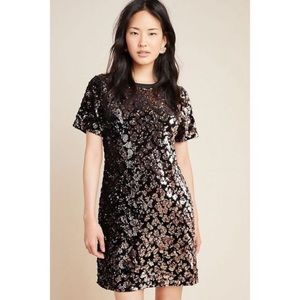 RARE Anthropologie Andi Sequined Tee Dress